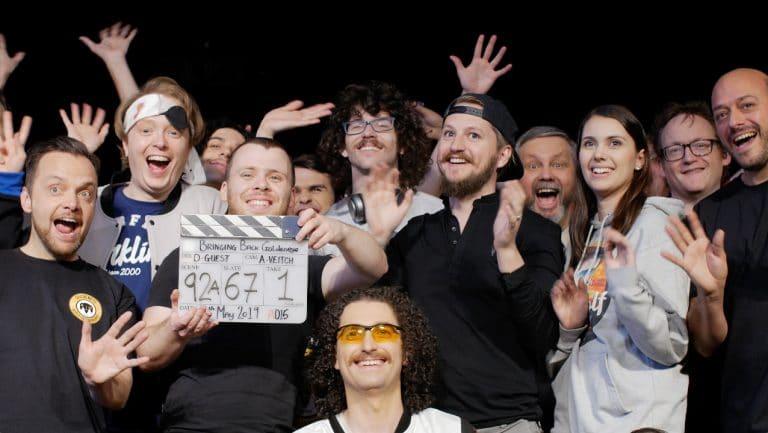 On the set of Bringing back goldeneye